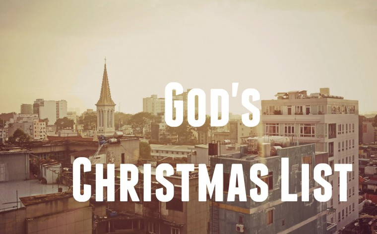 12 - 24 God's Christmas List