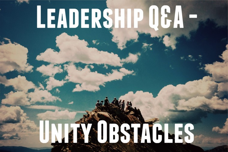 Leadership Q&A - Unity Obstacles