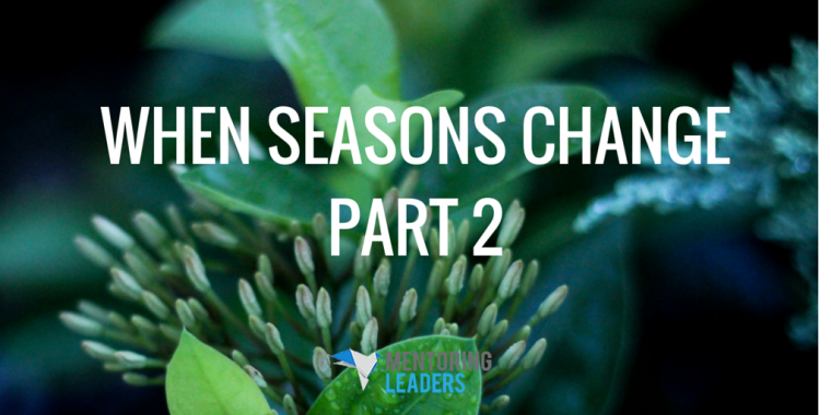 When Seasons Change- Part 2 - Mentoring Leaders